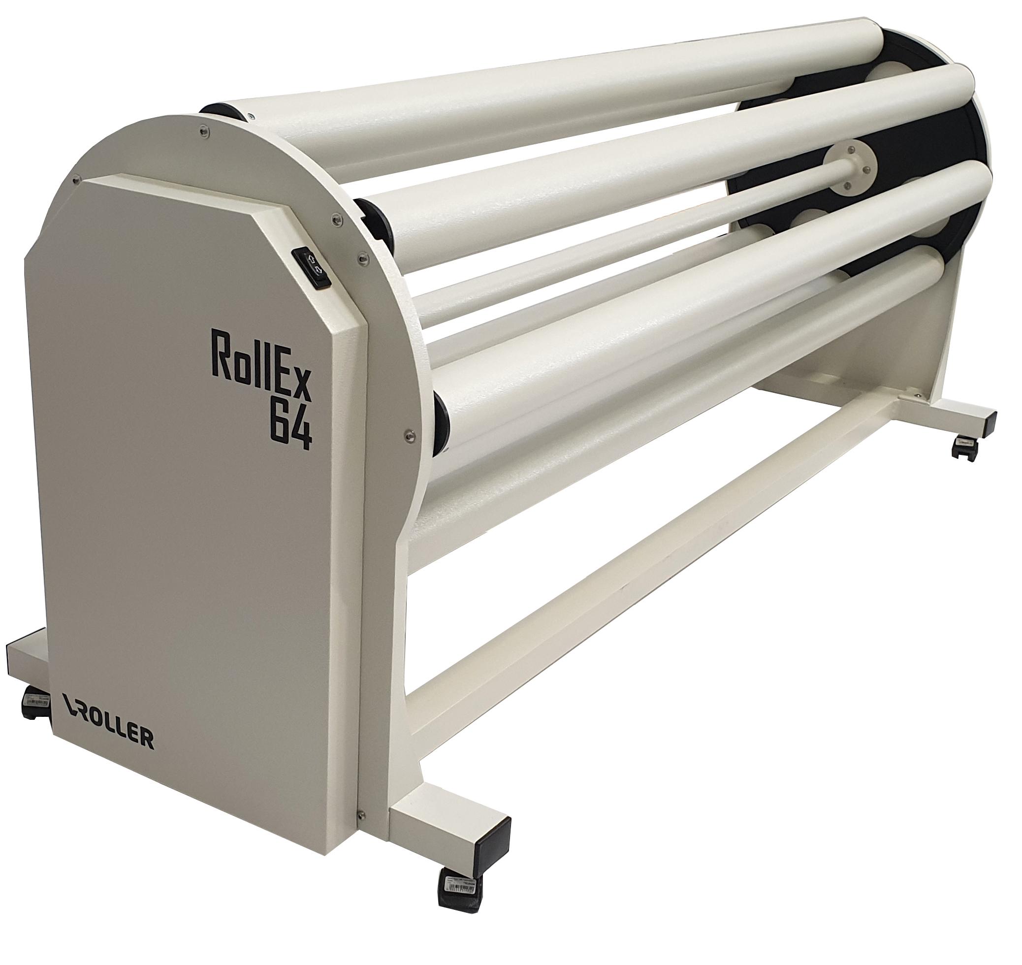 Portarotolo esterno per calandra piana e stampanti Roll To Roll VRoller RollEx